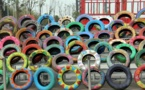 """China turns waste tires from """"black pollution"""" to """"black gold"""""""