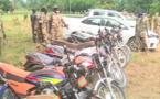 Tchad : plusieurs motos et véhicules saisis à Sarh aux heures de couvre-feu. © AYB/Alwihda Info