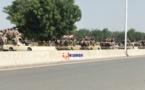 Un convoi de l'armée dans le 5ème arrondissement de N'Djamena, dimanche 28 février 2021. © Alwihda Info