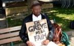 Kaar Kaas Soon : Troisième jour de Grève de la faim de l'artiste tchadien à Laval, Place du 11 Novembre