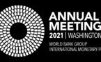 Banque mondiale-FMI : les Assemblées annuelles 2021 se tiennent à Washington DC