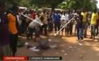 Une autre scène de lynchage à Bangui, filmée par une chaîne de télévision.