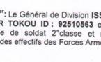Tchad : Le Général de Division issackha Bachar Tokou radié de l'armée