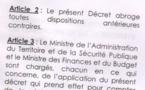 Tchad : Les Sous-préfets Adjoints relevés de leurs postes sur tout le territoire