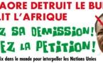 SOUTENONS LE PEUPLE BURKINABE,APPEL À TOUS LES AFRICAINS : EXIGEZ LA DEMISSION DE BLAISE COMPAORE