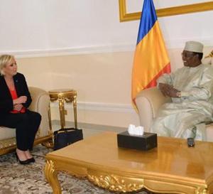 """Tchad : """"Moi et Idriss Déby avions les mêmes analyses"""", affirme Marine Le Pen"""