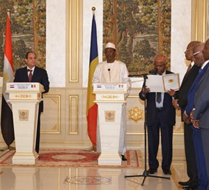 Al Sissi appelle la communauté internationale à soutenir les efforts du Tchad