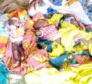 Tchad : la Fondation Grand cœur rend visite à une mère qui a accouché de triplés