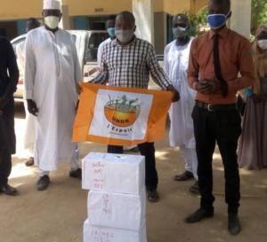 Tchad : à Mongo, un millier de masques offerts par l'UNDR au comité de crise