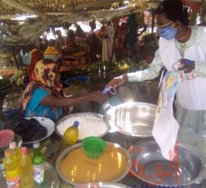 Tchad : à Abéché, des masques et solutions hydroalcooliques distribués aux vendeuses