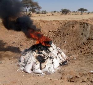 Tchad : de la farine de qualité douteuse incinérée à Abéché