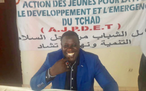 Le président de l'Action des jeunes pour la paix, le développement et l'émergence du Tchad (AJPDET), Mahamat El-Mahadi Ali. © Alwihda Info