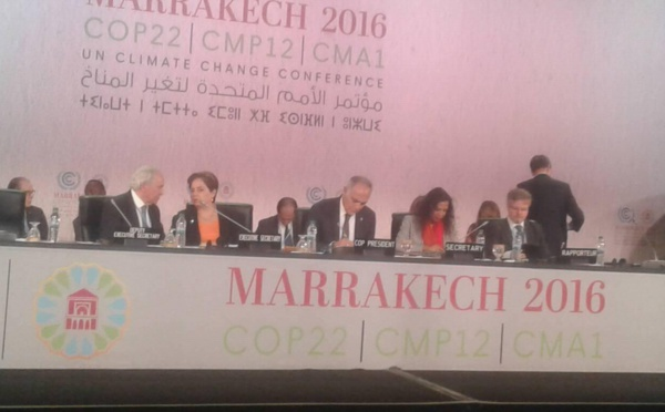 COP22 : Un nouvel élan avec la proclamation de Marrakech contre le changement climatique