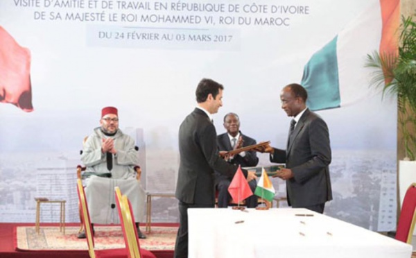 Le Roi Mohammed VI en visite officielle de Travail et d'Amitié en Côte d'Ivoire : une visite à orientation hautement économique