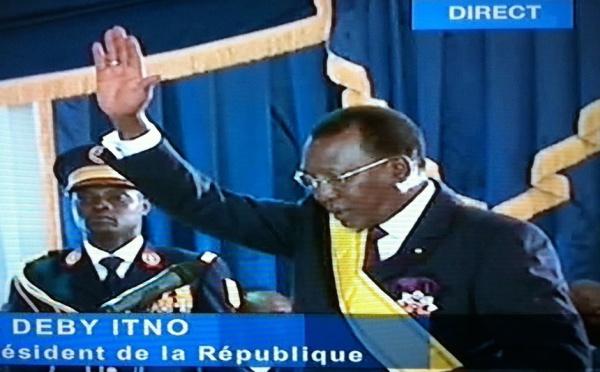 """Idriss Déby investi, prononce son discours : """"Mon élection est la victoire de tout le Tchad"""""""