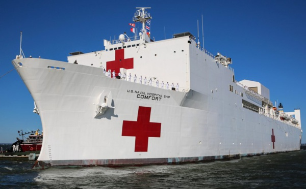 Un navire-hôpital américain remet le cap sur le Venezuela pour aider la population