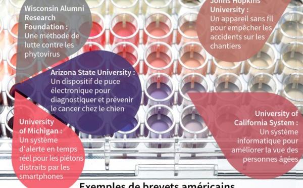 Dépôts de brevets : les universités américaines en tête