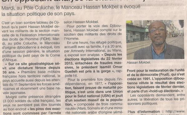 France : Un opposant analyse la situation à Djibouti