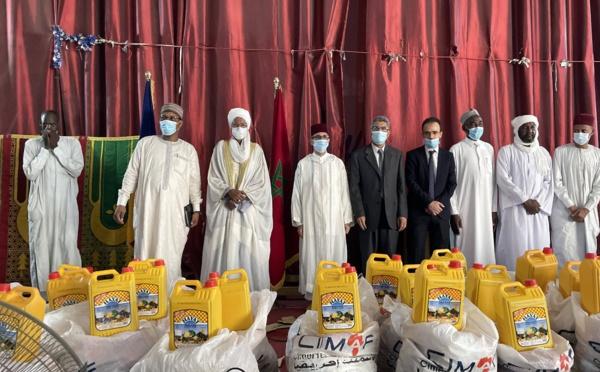 شركة اسمنت أفريقيا فرع تشاد توزع مواد غذائية ل1000 أسرة متعففة بانجمينا