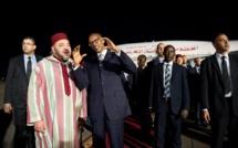 Le Roi du Maroc, Mohammed VI et le chef de l'Etat rwandais, Paul kagamé.