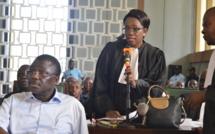 Maître Nzingoula, l'un des avocats de l'accusé Dabira.