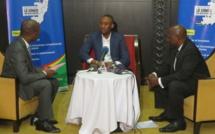 Le Coordonnateur Exaucé Ibam Ngambili au cours de la tribune.