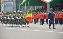 Une vue partielle du défilé militaire.