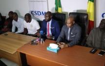 Le président du CSDM-Congo devant la presse.