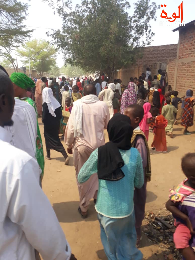 Tchad : un incendie provoque d'importants dégâts à N'Djamena, au quartier N'Djari, le 22 février 2019.
