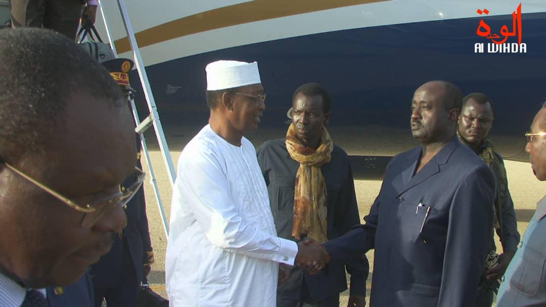 visite du président tchadienn Idriss Déby à Abéché